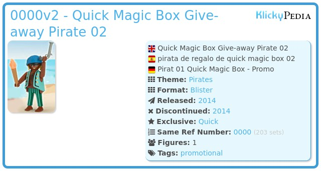 Playmobil 0000v2 - Quick Magic Box Give-away Pirate 02