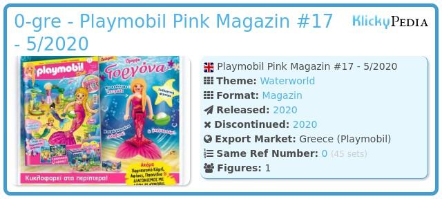 Playmobil 0-gre - Playmobil Pink Magazin #17 - 5/2020
