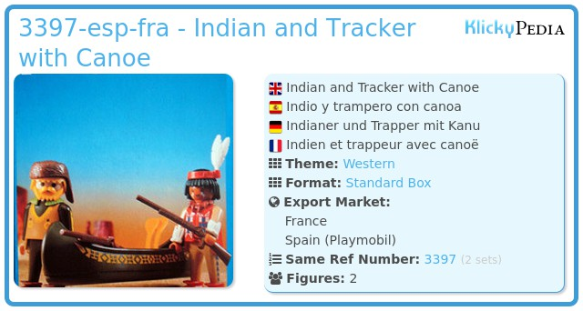 Playmobil 3397-esp-fra - Indian and Tracker with Canoe