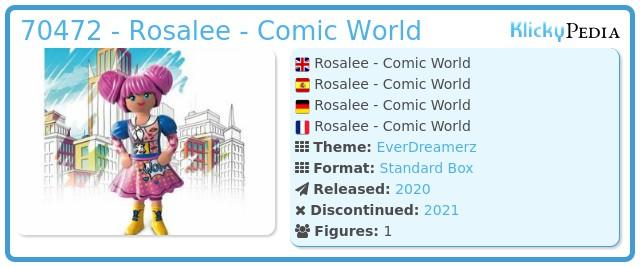 Playmobil 70472 - Rosalee - Comic World