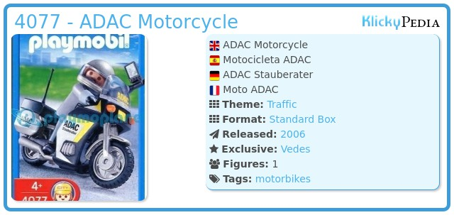 Playmobil 4077 - ADAC Motorcycle