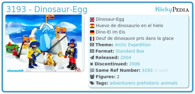 Playmobil 3193 - Dinosaur-Egg