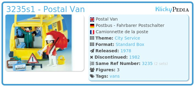 Playmobil 3235s1 - Postal Van