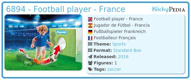 Playmobil 6894 - Football player - France