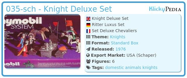 Playmobil 035-sch - Knight Deluxe Set