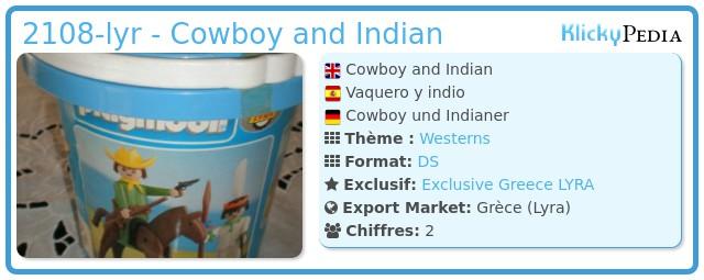Playmobil 2108-lyr - Cowboy and Indian