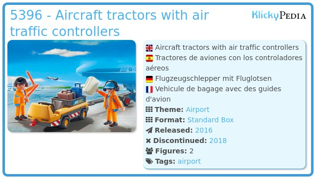 Playmobil 5396 - Aircraft tractors with air traffic controllers