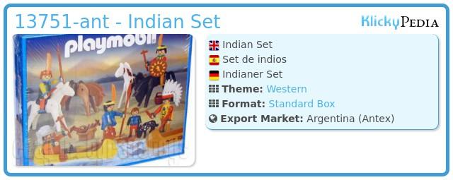 Playmobil 13751-ant - Indian Set