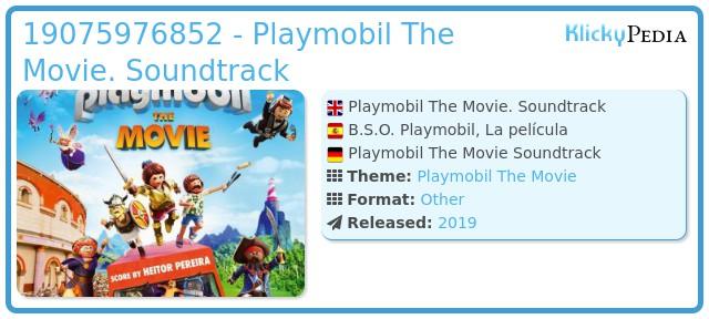 Playmobil 19075976852 - Playmobil The Movie. Soundtrack