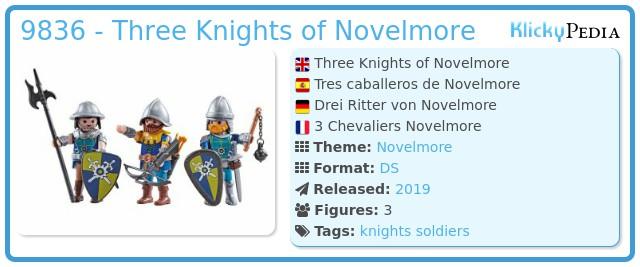 Playmobil 9836 - Three Knights of Novelmore