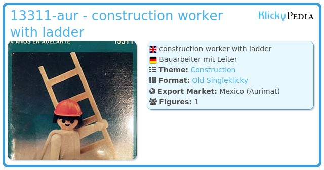Playmobil 13311-aur - construction worker with ladder