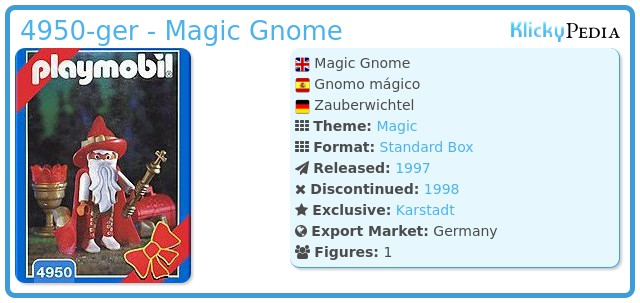 Playmobil 4950-ger - Magic Gnome