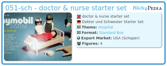 Playmobil 051-sch - doctor & nurse starter set