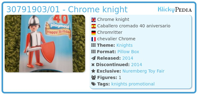 Playmobil 30791903/01 - Chrome knight