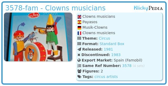 Playmobil 3578-fam - Clowns musicians