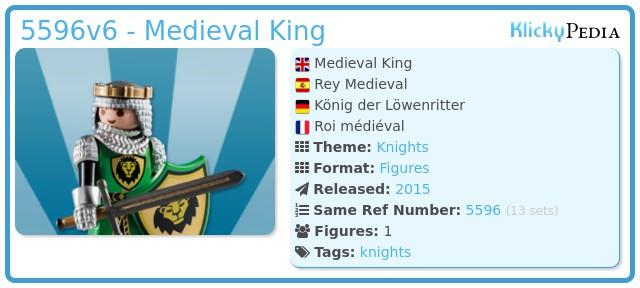 Playmobil 5596v6 - Medieval King