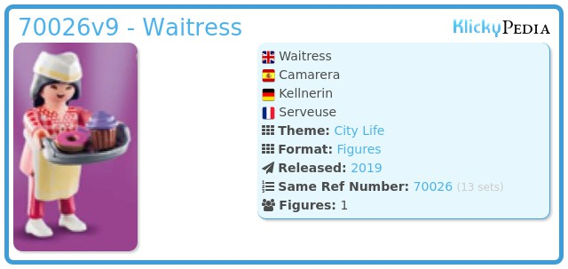 Playmobil 70026v9 - Waitress
