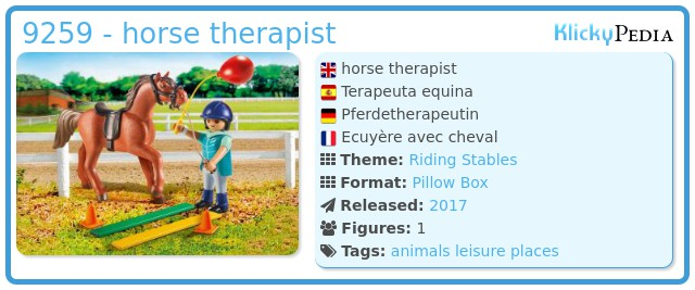 Playmobil 9259 - horse therapist