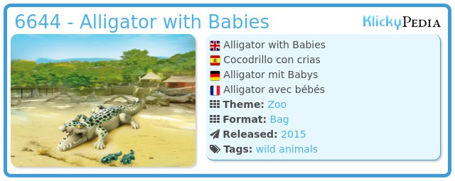 Playmobil 6644 - Alligator with Babies