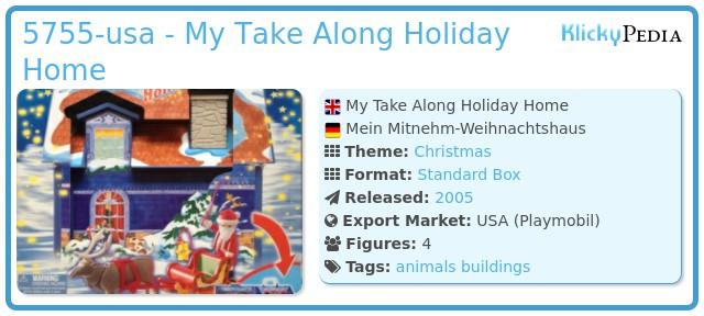 Playmobil 5755-usa - My Take Along Holiday Home