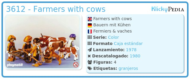 Playmobil 3612 - Farmers with cows