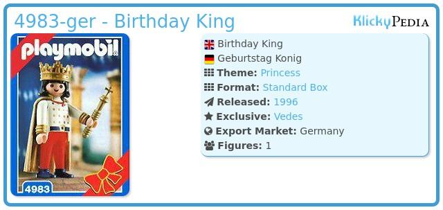 Playmobil 4983-ger - Birthday King