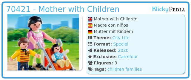 Playmobil 70421 - Mother with babies