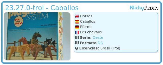 Playmobil 23.27.0-trol - Caballos