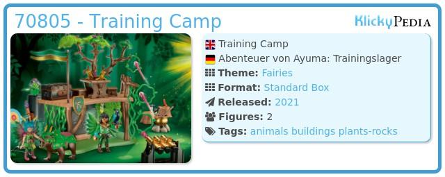 Playmobil 70805 - Adventures of Ayuma: Training Camp