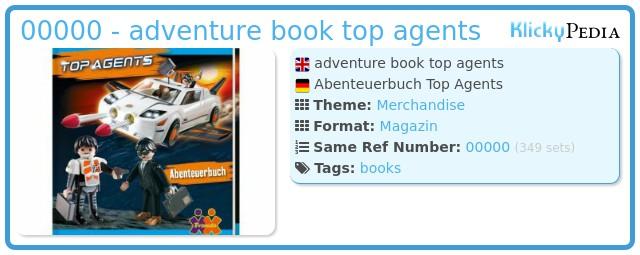 Playmobil ABENTEUERBUCH - adventure book top agents