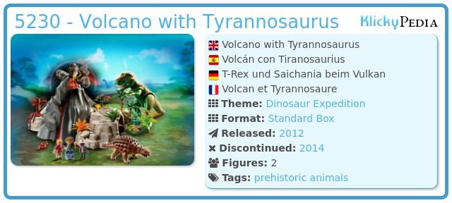 Playmobil 5230 - Volcano with Tyrannosaurus