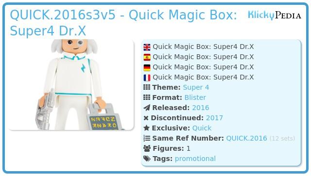 Playmobil QUICK.2016s3v5 - Quick Magic Box: Super4 Dr.X