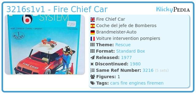 Playmobil 3216s1 - Fire Chief Car
