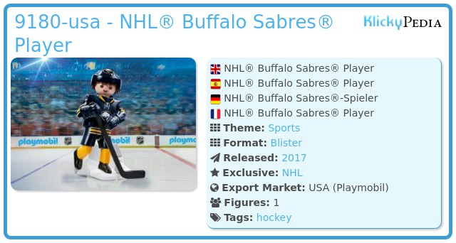 Playmobil 9180-usa - NHL® Buffalo Sabres® Player