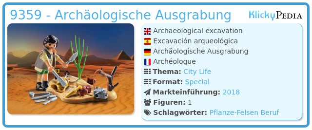 Playmobil 9359 - Archäologische Ausgrabung