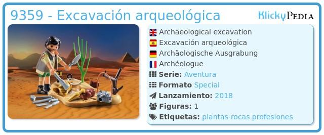 Playmobil 9359 - Excavación arqueológica
