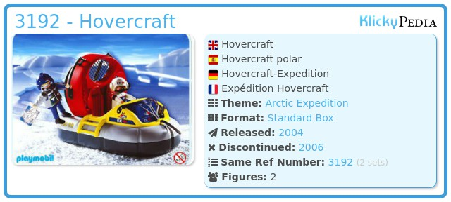 Playmobil 3192 - Hovercraft