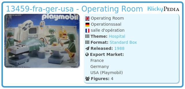 Playmobil 13459-aur - Operating Room