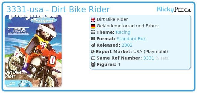 Playmobil 3331-usa - Dirt Bike Rider