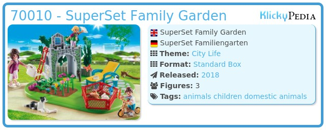 Playmobil 70010 - SuperSet Family Garden