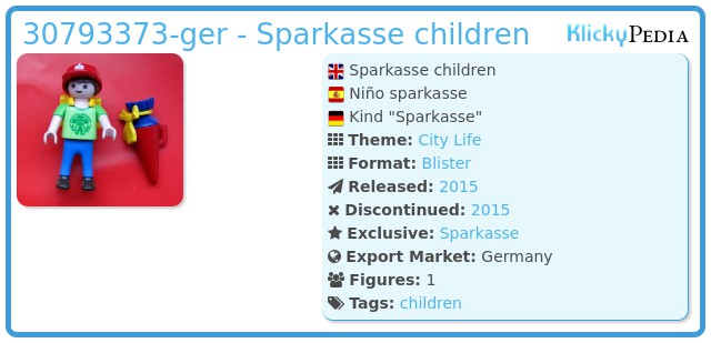 Playmobil 30793373-ger - Sparkasse children