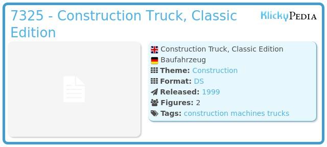 Playmobil 7325 - Construction Truck, Classic Edition
