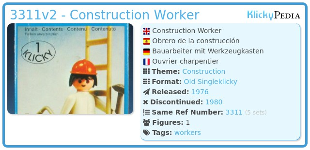 Playmobil 3311v2 - Construction Worker