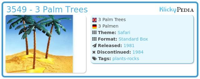 Playmobil 3549 - 3 Palm Trees
