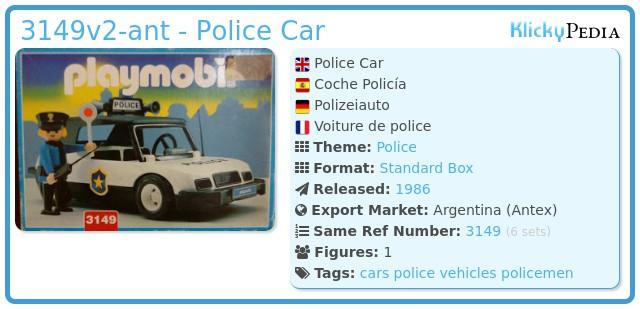 Playmobil 3149v2-ant - Police Car