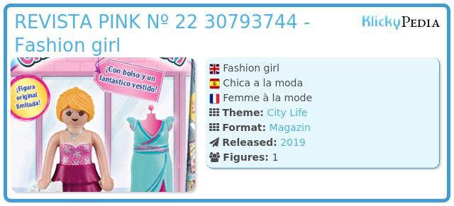 Playmobil REVISTA PINK Nº 22 30793744 - Fashion girl