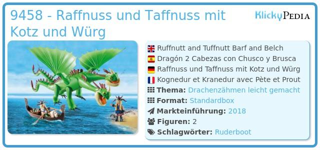 Playmobil 9458 - Raffnuss und Taffnuss mit Kotz und Würg