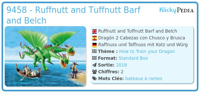 Playmobil 9458 - Ruffnutt and Tuffnutt Barf and Belch