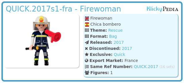 Playmobil QUICK.2017s1-fra - Firewoman