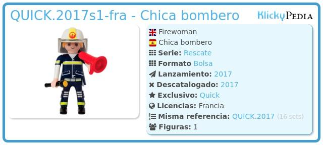 Playmobil QUICK.2017s1-fra - Chica bombero